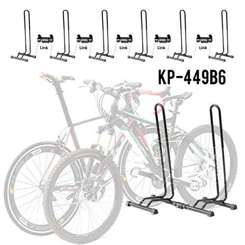 1-6 Bike Bicycle Stand Parking Garage Storage Organizer Cycling Steel Rack Black